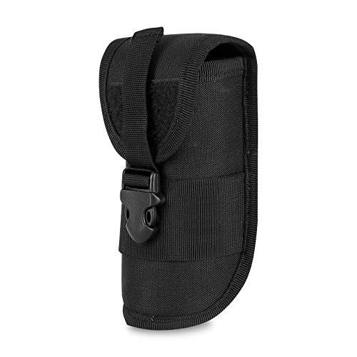 G-raphy Molle Táctico Gafas Duro Caso de Gafas de Sol Estuche 600d Nailon con Clip (Negro)