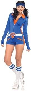 Leg Avenue NBA 3 Piece Knicks Dancer Romper, Blue/Orange, Medium
