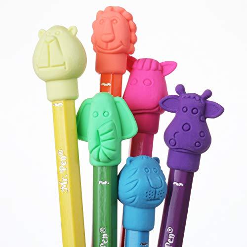 Mr. Pen- Erasers, Cap Erasers, 60 Pack, Animal Eraser Caps, Erasers for Kids, Pencil Eraser, Pencil Erasers Toppers, Eraser Pencil, Cute Erasers, Colorful Erasers, School Supplies, Pencil Top Erasers Photo #4