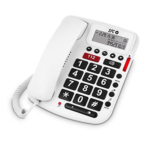 SPC Comfort Volume Teléfono Fijo con Teclas Grandes y Volumen Extra Alto, Blanco