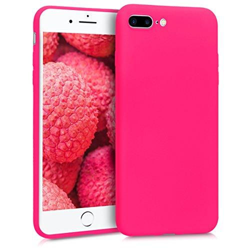 kwmobile Hülle kompatibel mit Apple iPhone 7 Plus / 8 Plus - Hülle Handyhülle - Handy Hülle in Neon Pink