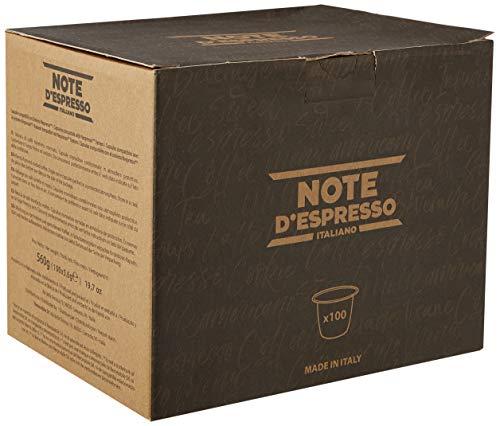 Note D\'Espresso Intenso Caffè in Capsule esclusivamente Compatibili con Sistema Nespresso* - 560 g (100 x 5.6 g)