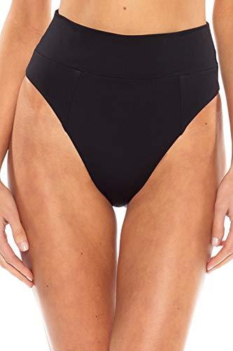 Becca by Rebecca Virtue Women's Banded High Waist Bikini Bottom Black S