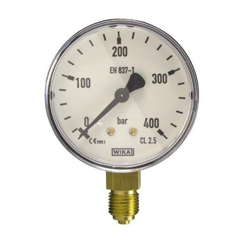 Manometer, NG63, 0-400 bar - WIKA 111.10 - 9013849