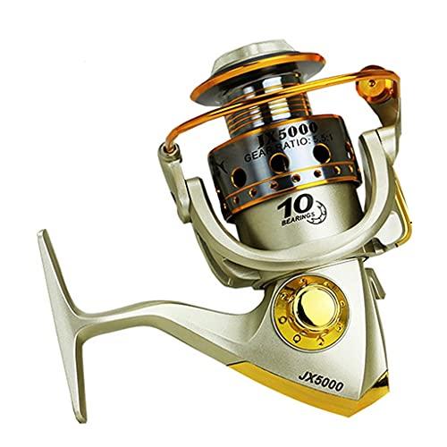 Qivor Nuevo Carrete de Pesca de Hilado de Metal 10BB 5.5: 1 Tackle de Pesca Pesca Carrete Spinnning Reel Feeder Wheel de la Pesca 1000-7000 JX (Spool Capacity : 3000 Series)