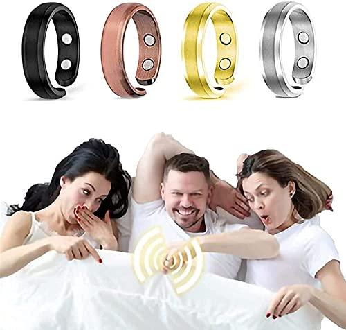 Zller2587 Megnetfield Therapeutic Gentlemen Ring, Terapéutico para Caballeros Megnetfield, Alivio del Dolor para La Artritis Y El Túnel Carpiano, Adjustable Elegant Magnetic Rings