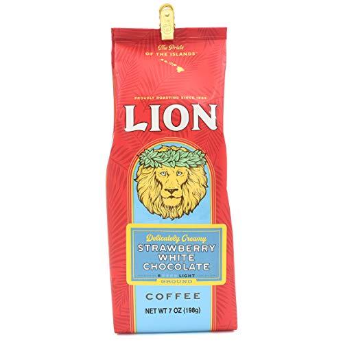 LION COFFEE ライオンコーヒー コーヒー豆 中挽き 【 ストロベリーホワイトチョコレート 】 198g ハワイ土産 高級 伝統 高級コーヒー アメリカ