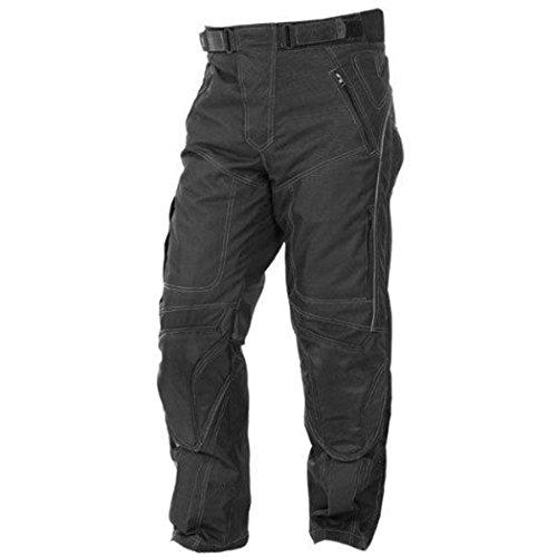 newfacelook Herren Designer Protection Thermique Moto Pantalons Pantalon impermeable, Schwarz, 32W / 32L