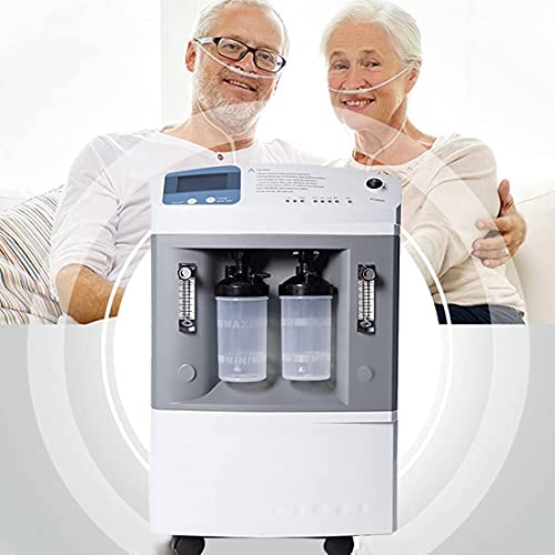 HUALUWANG Oxygen Concentrator 10L High Capacity O2 Generator, Intelligent Oxygen Machine, LCD Display Operating Pressure, Present Working Time, Accumulating Time