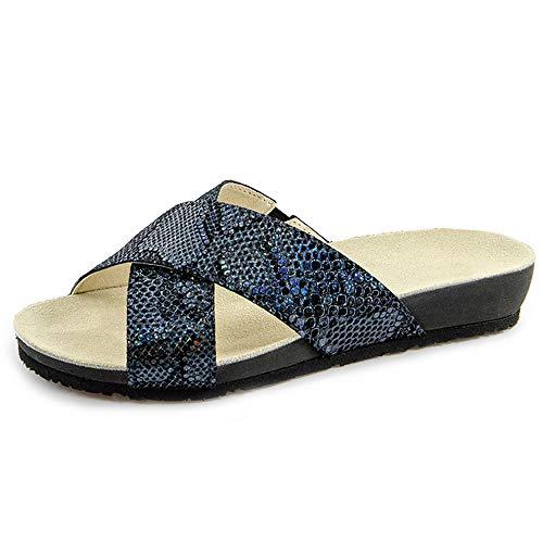 Marc Shoes Mira, Mules Femme, Noir (Crosta Black-Glitter 00796), 40 EU