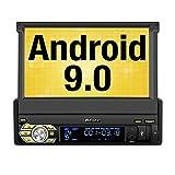 """PUMPKIN Android 9.0 Radio 1 DIN Autoradio con GPS Navegador soporta Bluetooth, Control Volante, WiFi, USB, SD, 4G, AV-out, con 7"""" Pantalla Táctil"""