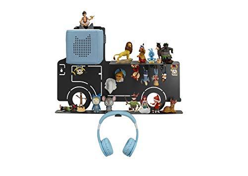 Leckerhelfer automatisch lecker Tonie Box Regal LKW für über 52 Tonies, Regal für Kinder Sammelset, LKW - Tonie Toniebox Zubehör - Geeignet für über 52 Tonies - Magnetisch beliebig fixierbar