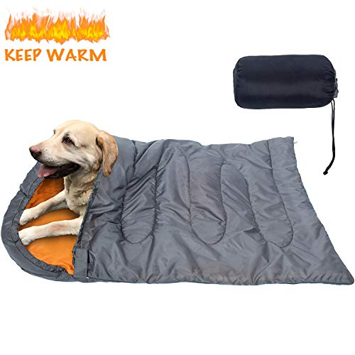 KUDES Dog Sleeping Bag Waterproof Warm Packable Dog Bed with Storage Bag for Indoor Outdoor Travel...