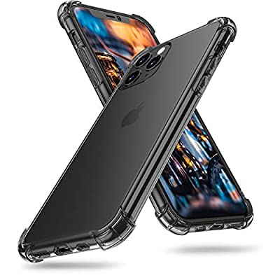 ORIbox iPhone 11 pro max Case Clear, with 4 Corners Shockproof Protection, Soft Scratch-Resistant TPU Cover Case for iPhone 11 pro max Case for Women & Men, Black
