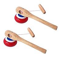 【昔なつかしコマセット】 糸引きごま コマ 木ごま かんたん 昔なつかし 知育玩具 木のおもちゃ 子ども 男の子 キッズ (糸引きごま 2個セット)
