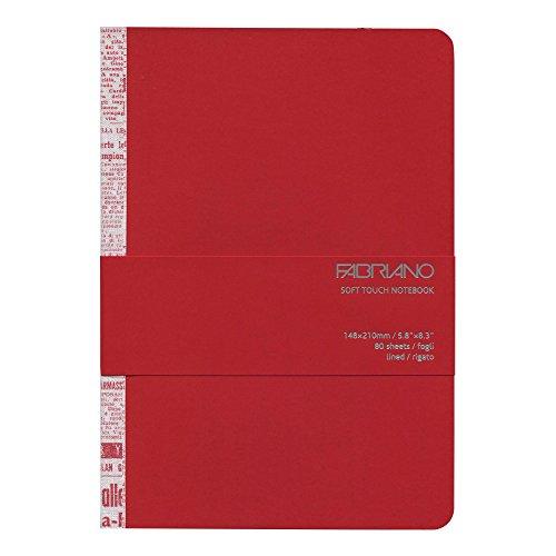 Fabriano Taccuino Soft Touch Notebook A5 Colori Assortiti