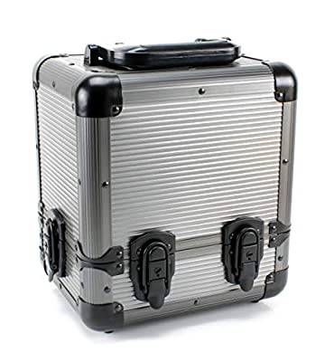 Versa Games 1000pc Deluxe Poker Chip Case Carrier in Gray Color - Ultimate Poker Chip Carrier