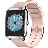 Smartwatch,Reloj Inteligente Rastreador de Fitness con Monitoreo de Frecuencia Cardíaca,Monitor de Sueño,Impermeable IP67,Android iOS Smart Watch Hombre Mujer