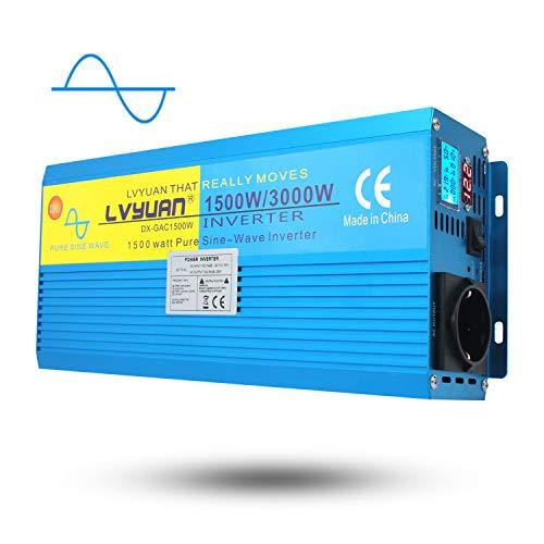 Yinleader Inversor Onda Sinusoidal Pura 1500W Transformador De 12v A 230v 3000W, Inversor...