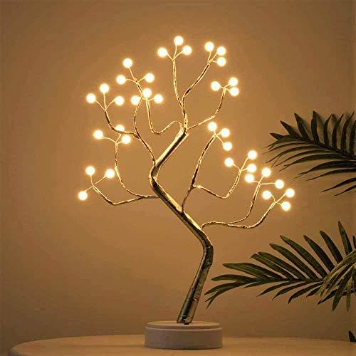 MNNE Kupferdraht Niederlassung LED-Leuchten 108L LED Desktop-Bonsai-Baum-Lichter für Home/Hochzeit/Partei/Urlaub/Weihnachtsdekorationen USB und batteriebetriebenes Warm White
