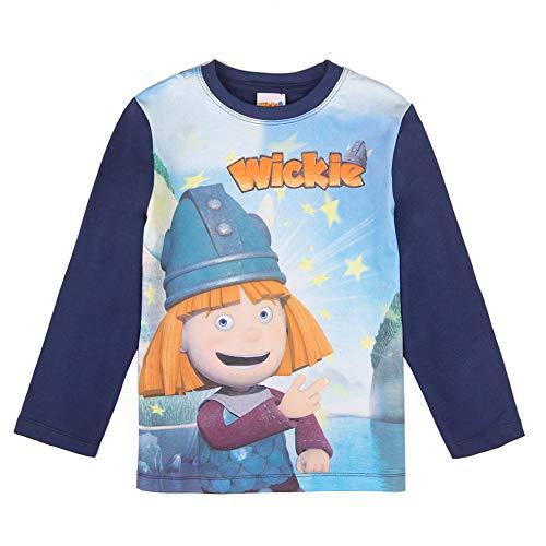 Wickie Jungen T-Shirt, Langarmshirt, blau, Größe 98, 3 Jahre