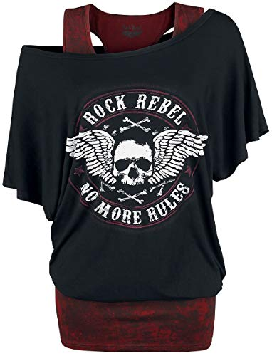 Rock Rebel by EMP Fast and Loose Langarmshirt schwarz