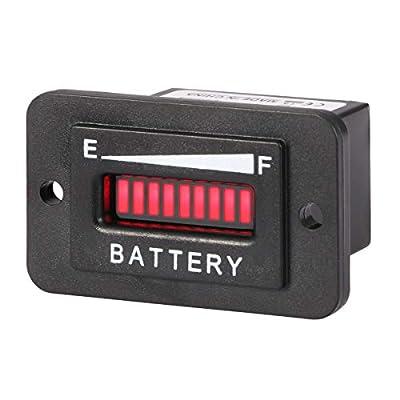AIMILAR 36V LED Battery Indicator - Battery Charge Discharge Gauge Meter for Lead-Acid Battery Motorcycle Golf Cart Car Jet Ski (36V)