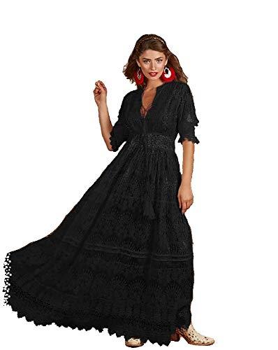 Antica Sartoria Ibiza 44 Kleid, Empire, Schwarz One size