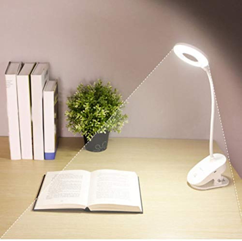 Xiadsk 12000mAh LED Touch EIN Aus-Schalter 3 Modus Clip Typ Tischlampe 7000K Augenschutz Tischlampe Dimmen wiederaufladbare USB LED Tischlampe