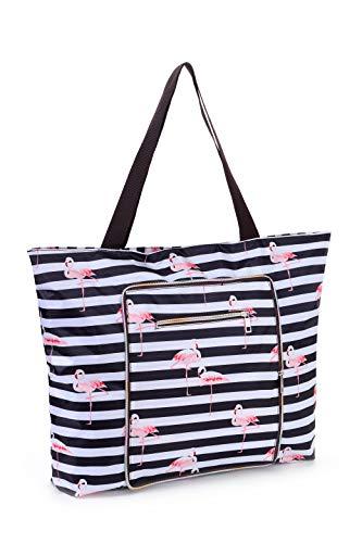 Women Beach Tote Utility Bag with Zipper, Pineapple Foldable Cute Large Swim pool Waterproof Bag for Travel, Gym, yoga, Mom in Law Female Friend Sister Wife Girlfriend Good Gift