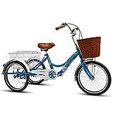 OHHG Triciclo Adultos, Ruedas 20 Pulgadas, diseño bajo Alcance, Bicicleta Crucero Tres Ruedas, Unisex Compras, Ejercicio, recreación