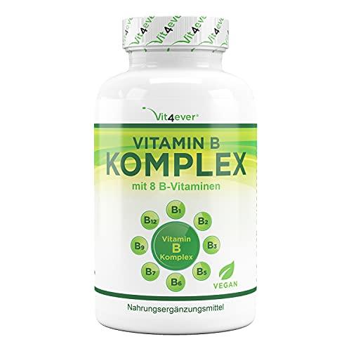 Vitamin B Complex 500 Tablets - Las 8 vitaminas B en 1 tableta - Vitamina B1, B2, B3, B5, B6, B12, Biotina y Ácido Fólico - Vegano