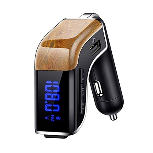 Clydekaoyan Bluetooth FM-zender voor autoradio adapter handsfree carkit voor TF-kaart, USB-poort, micro SD-kaart, U-disk, mobiele telefoon, tablet draagbaar, andere Bluetooth-apparaten
