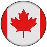 FanShirts4u Button/Badge/Pin - I Love KANADA Fahne Flagge CANADA (Kanada/Flagge)