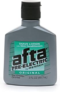Pre-Electric Shave Lotion with Skin Conditioners Afta by Mennen , Original 3 oz (Pack of 6)