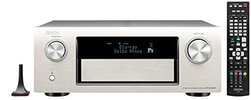 Denon AVR-X4200W 7.2 Surround AV-Receiver ( Dolby Atos, dtsX, W-Lan, Bluetooth, Spotify Connect,7 +1 HDMI 3D/4k,  3 HDMI Ausgänge, HDCP2.2, App steuerbar , drei Zonen, 7x200Watt) Premium Silber
