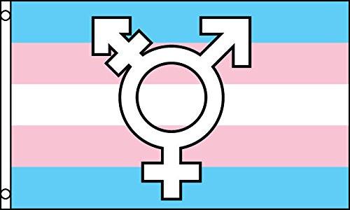AZ FLAG Flagge Transgender MIT Symbol 150x90cm - INTERSEXUELLE Fahne 90 x 150 cm - flaggen Top Qualität