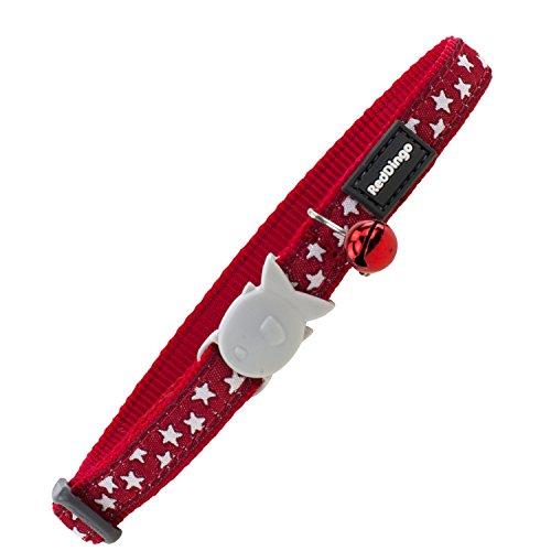 Red Dingo GmbH Collar Gato Estrella, Blanco y Rojo, S