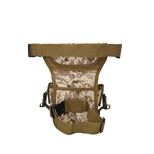 winomo multi-usages Outdoor randonnée Bumbag Étui de jambe cuisse Ceinture Sac Sac Portefeuille Portefeuille pour l'Armée de fans (numérique désert)