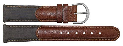 Citime Cinturino Ricambio in Pelle di Colore Marrón Chiusura Fibbia, 18mm...
