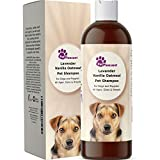 Vanilla Oatmeal Dog Shampoo with Lavender - Colloidal Oatmeal Dog Shampoo for Itchy Skin - Shampoo for Dogs with Sensitive Skin - Odor Eliminator