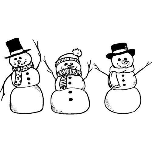 A8 'Trio der Schneemänner' Stempel (Unmontiert) (RS00019860)