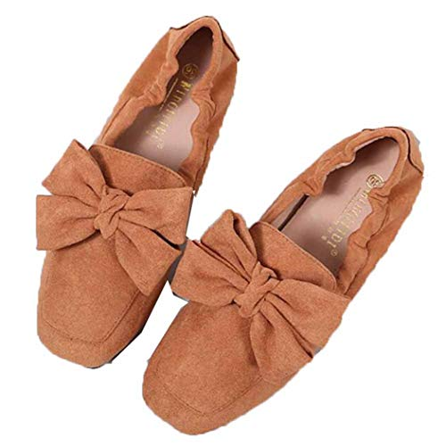 Vrouwen Mocassins Met Vierkante Neus Suède Slip Op Zachte Bodem Loafers Comfort Ademend Ballet Flats Casual Ondiepe Mond Bootschoenen