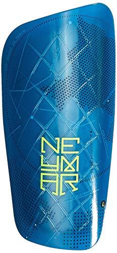 Nike Neymar Mercurial Lite Fußball-Schienbeinschoner, Mehrfarbig (Blue Orbit/Volt/Weiß)