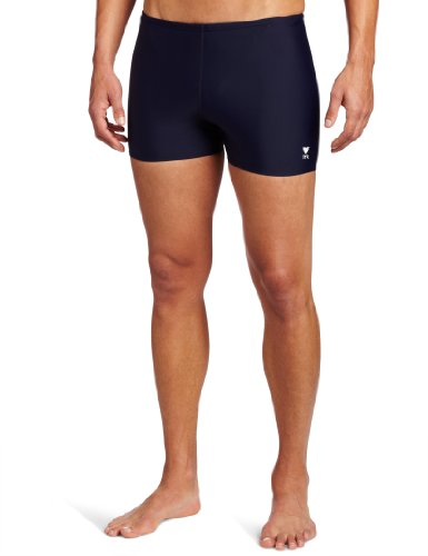 TYR Sport Men's Square Leg Short Swim Suit,Navy,32