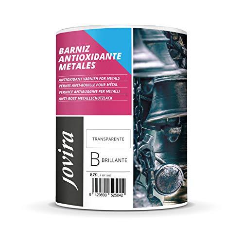 BARNIZ ANTIOXIDANTE METALES BRILLANTE AL AGUA Protección y decoración de metales. (750 ML)