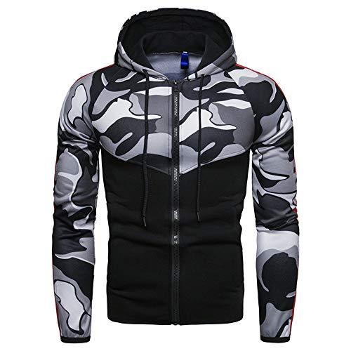 Nueva chaqueta de la juventud del suéter del color del camuflaje de los hombres de la aptitud