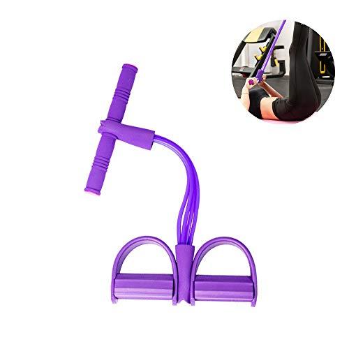 Multifunktions-Leg-Exerciser, 4 Tubes Elastische Zugseil Pedal Sit-up Resistance Band Bodybuilding Expander Tension Rope für Fitness Abnehmen Training