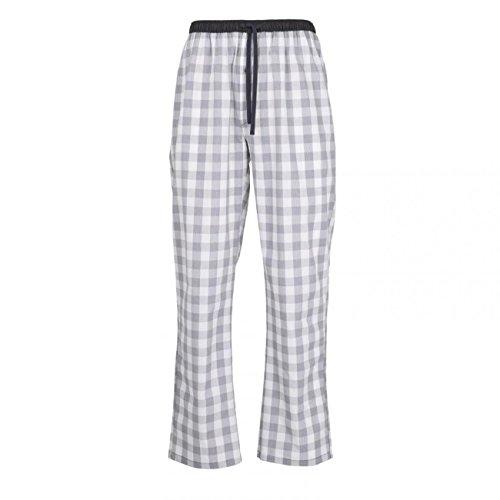 Ceceba Herren Lange-Hose, Schlafhose, Pyjama-Hose - Baumwolle, Popeline, blau, kariert, mit Eingriff 50