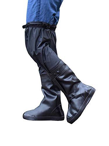 EEKUY Cubiertas De Zapatos Impermeables sobre La Rodilla, Botas Largas De Lluvia...